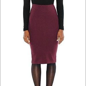 American Apparel Stretchy skirt - burgundy